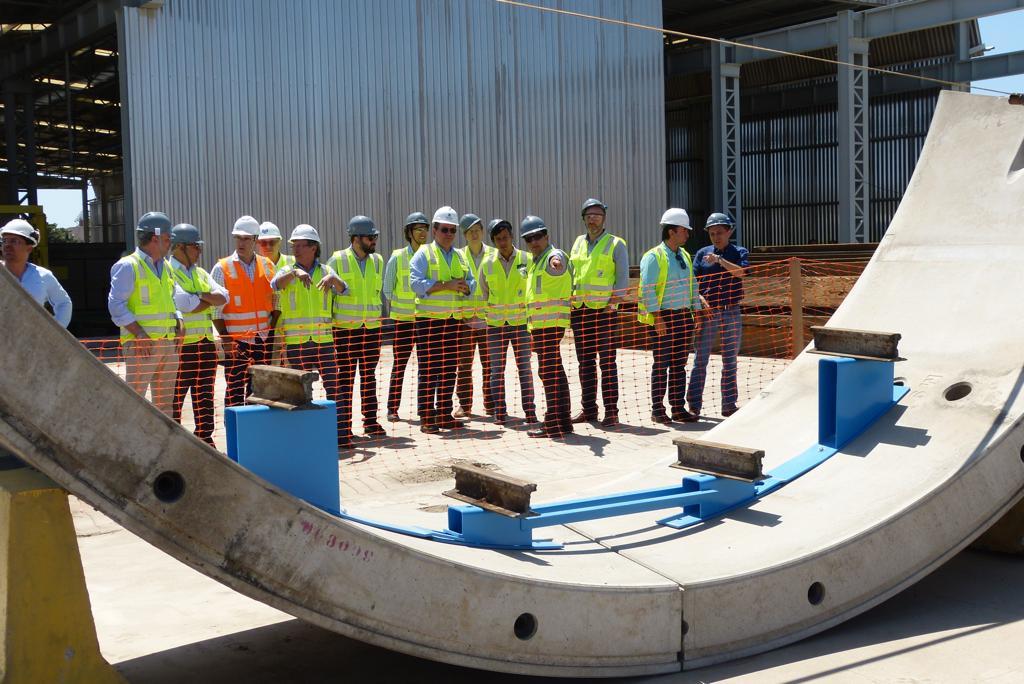 Obras da Linha Leste recebem visita de técnicos do BNDES