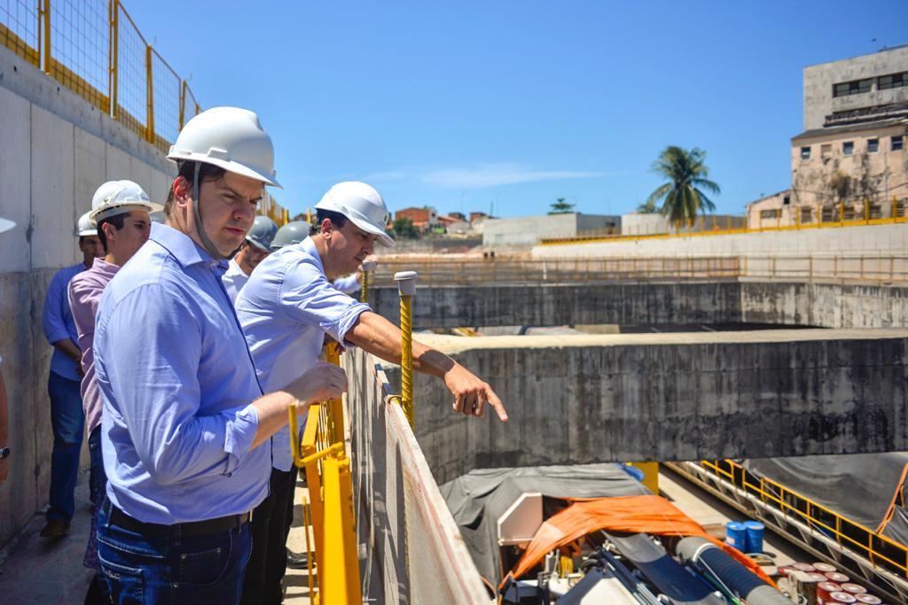 Governador e Ministro do Desenvolvimento Regional visitam obras da Linha Leste