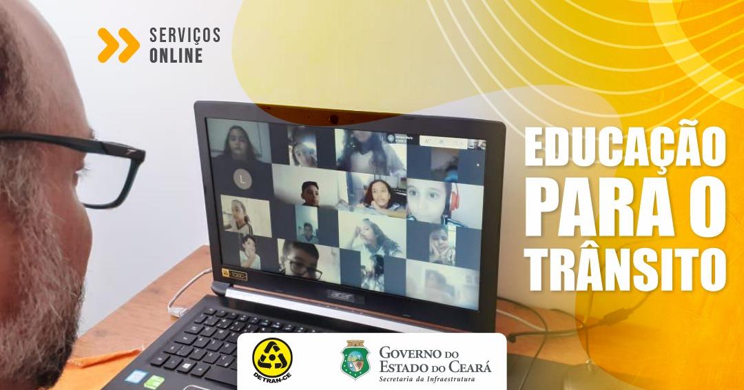 Aulas e Palestras online são os novos serviços da Escola de Educação para o Trânsito do Detran-CE