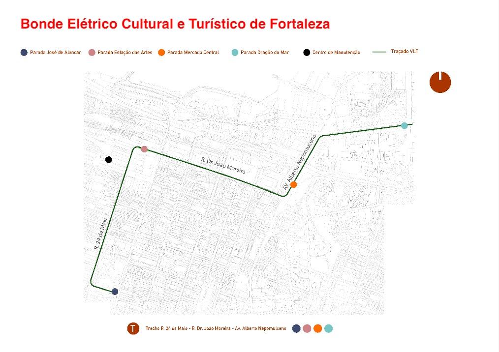 Remodelado, projeto de Bonde Elétrico Cultural e Turístico de Fortaleza é divulgado para requalificar o Centro e fortalecer economia criativa