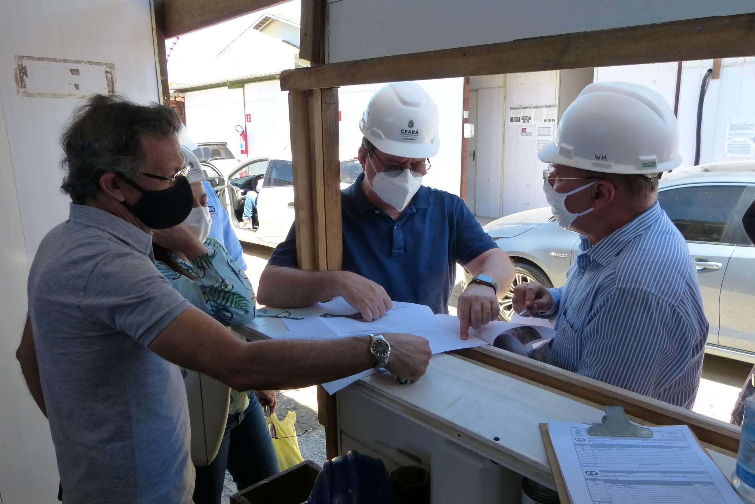 Secretário da Infraestrutura vistoria implantação das obras do novo Centro de Manutenção do VLT e acompanha avanço nos serviços da Linha Leste